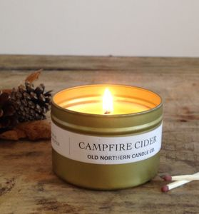 Campfire Cider Essential Oil Soy Wax Travel Tin Candle - occasional supplies