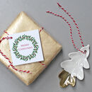 Christmas Gift Tags With Holly And Ivy Wreath