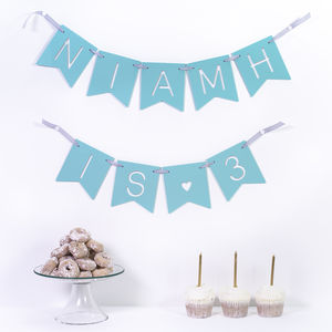 Personalised Birthday Party Banner - decoration