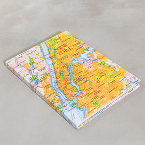 New York Map Print Notebook