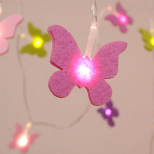 Battery Felt Butterfly String Lights - lighting