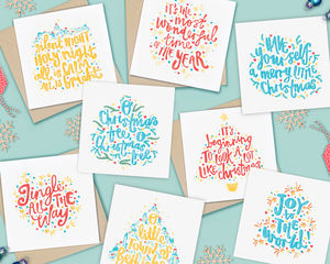 Pack Of Eight Christmas Carols Cards