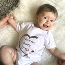 I Love My Auntie Personalised Rose Gold Heart Babygrow