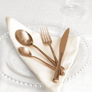 24pc Copper Cutlery Set