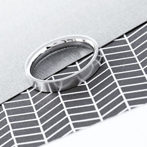 Men's Flat Stainless Steel Band Ring - jewellery sale