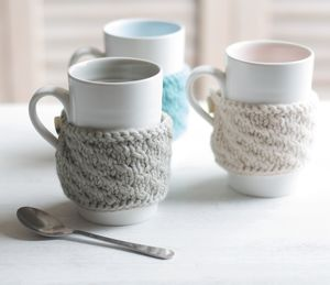 Hand Knitted Cosy Mug - feeling cosy - hygge home ideas