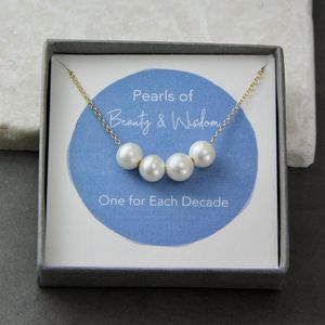 Floating Pearls Special Birthday Necklace