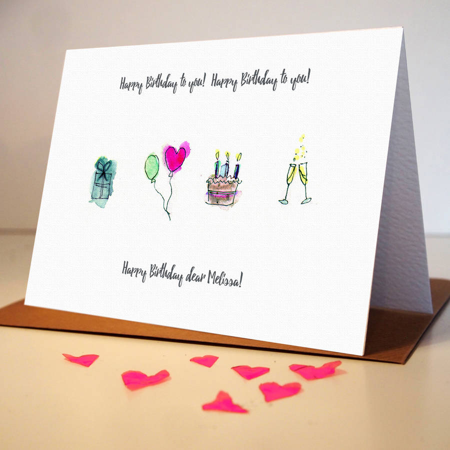 Personalised Hand Drawn Birthday Card By Homemade House
