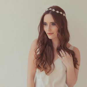 'Cherry Blossom' Crystal And Pearl Wedding Hair Vine