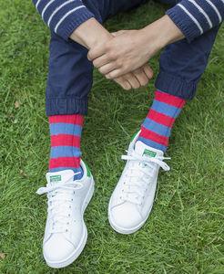 Rugby Style Chunky Rib Sock