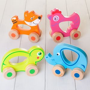 Personalised Wooden Push Along Friends - traditional toys & games