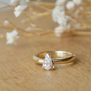 Pear Diamonds Engagement Ring - engagement rings