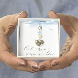 Something Blue Brides Heart Charm - charms