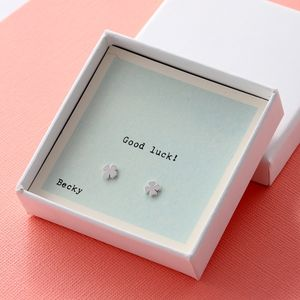 Gift Boxed 'Good Luck' Earrings