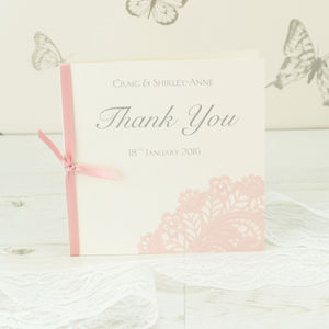 10 Personalised Victoria Thank You Cards