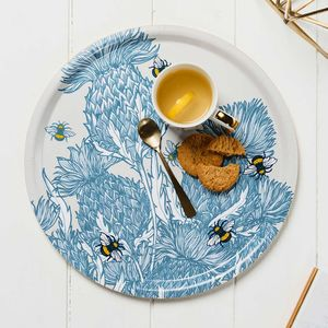 'Scottish Thistles' Birchwood Serving Tray - kitchen