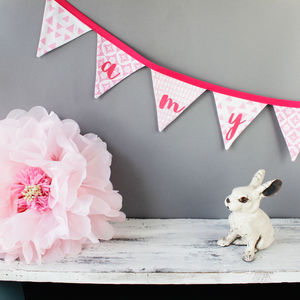 Personalised Bunting Pink