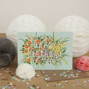 Floral Happy Birthday Card - what's new