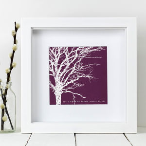 Framed 'My Frosty Breath' Winter Tree Print