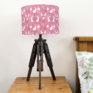 Floral Hare Lampshade - dining room