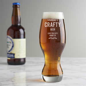 Personalised Craft Beer Glass - what's new