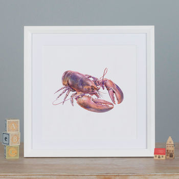 Illustrated Lobster Print