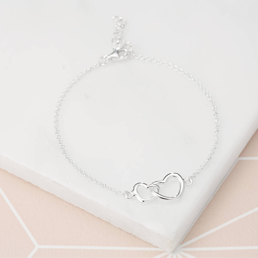 Matching Linked Hearts Bracelet