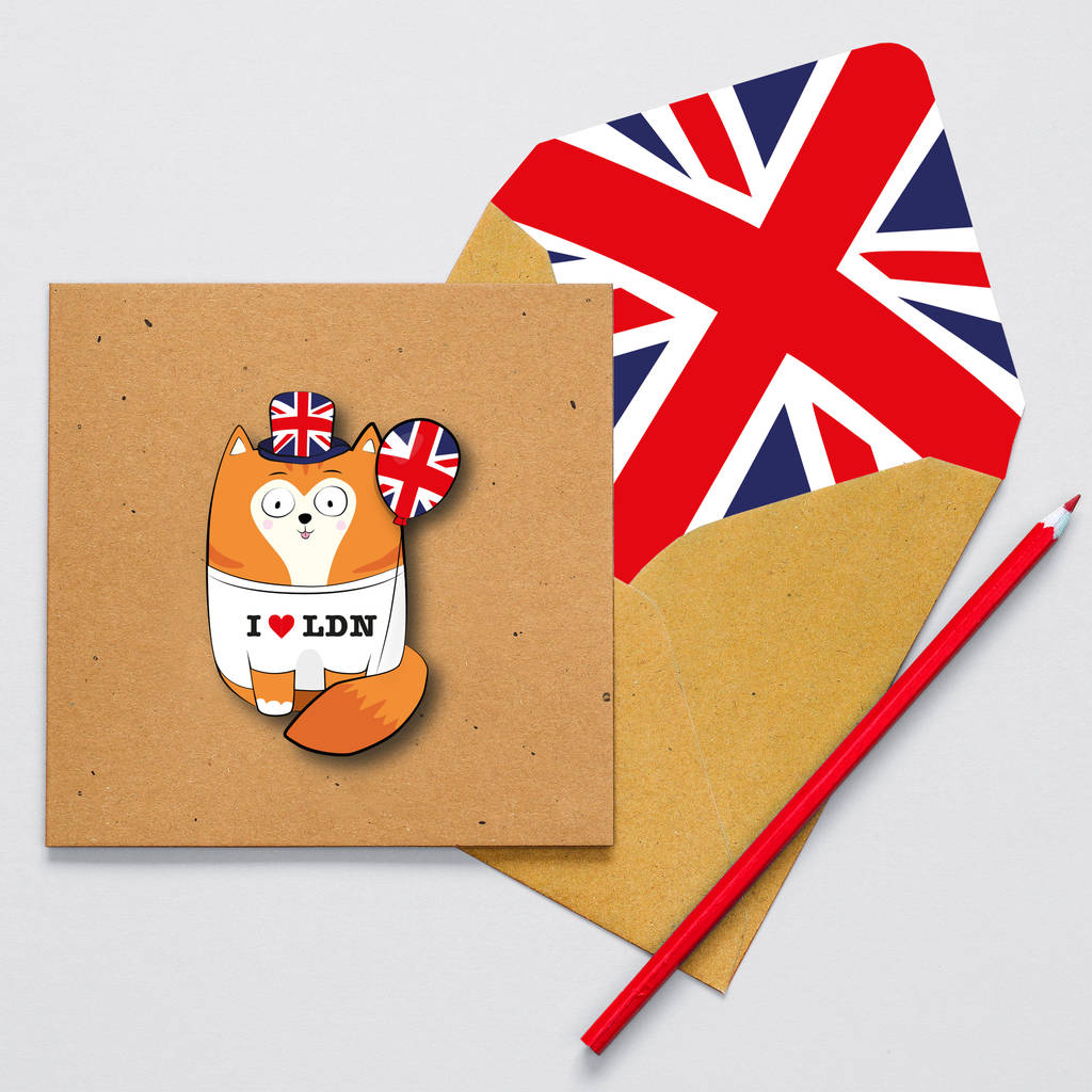 Handmade London Ginger Cat Personalised Card