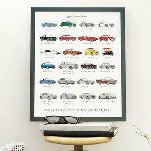 James Bond Carvolution™ Artwork Print - drawings & illustrations