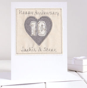 Personalised 10th Wedding Anniversary Card - anniversary cards