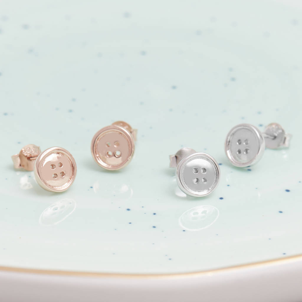 koo button diy the little earrings stud blog