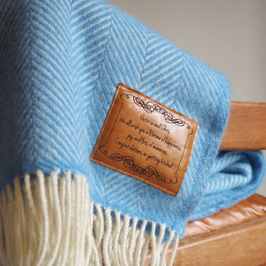 Personalised Herringbone Throw - blankets & throws