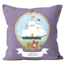 Personalised Ship Cushion