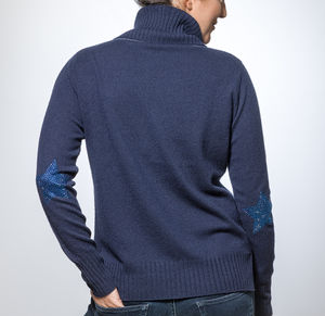 Cashmere Roll Neck Star Jumper - jumpers & cardigans