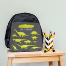 Personalised Children's Dinosaur Mini Rucksack