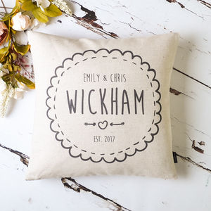 Personalised Couple Cushion Cover - personalised wedding gifts