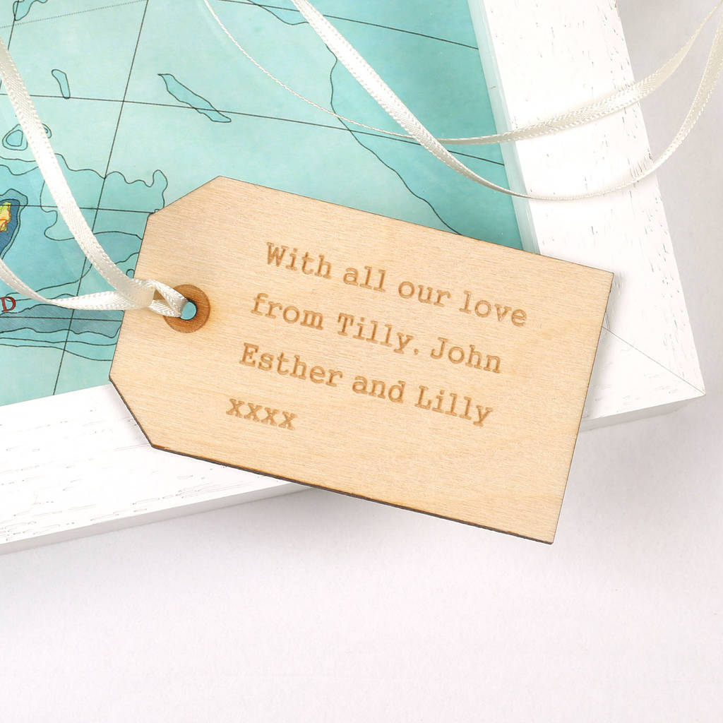 Wedding Gift New Zealand : New Zealand map heart print personalised tag