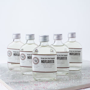 Five Mini Margarita Tequila Cocktails - christmas food & drink