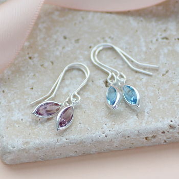 Marquise Swarovski Crystal Birthstone Earrings