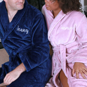 Personalised Supersoft Fleece Dressing Gown