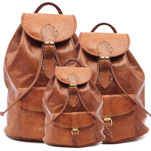 Handmade Leather Backpack - womens