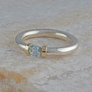 Aquamarine Tension Set Ring