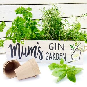 Personalised Gin Garden With Herb Seeds - flowers with a twist