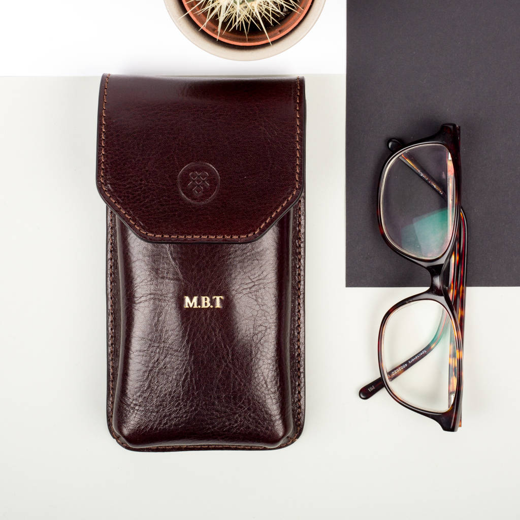 cea1e301bd Personalised Leather Glasses Case.  The Gabbro