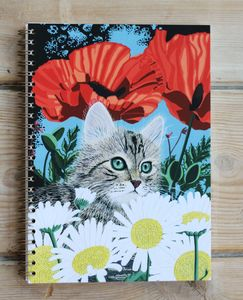 Kitten A5 Spiral Bound Notebook - writing
