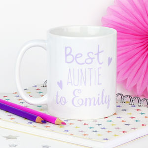 Personalised 'Best Auntie' Mug - tableware