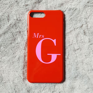 Red And Pink Alphabet Personalised Phone Case