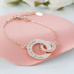 Mother Of The Bride Intertwined Chain Bracelet - personalised jewellery