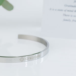 Gratitude Affirmation Bangle - view all new