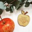 Personalised Teacher Apple Magnet Gift